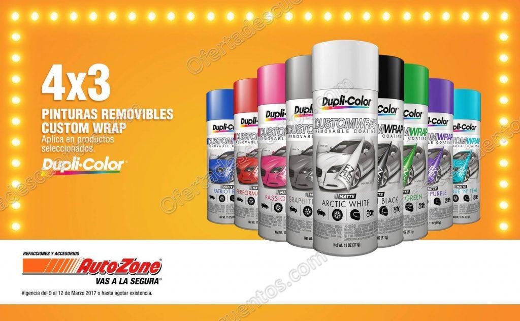 Auto Zone: 4×3 en pintura removible Custom Wrap Dupli Color y más del 9 al 12 de Marzo