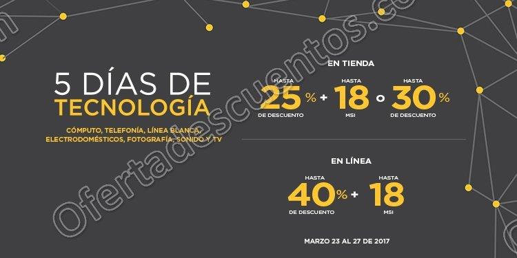 Palacio de Hierro: 5 Días de Tecnología Hasta 40% de descuento en Cómputo, Telefonía y más al 27 de Marzo