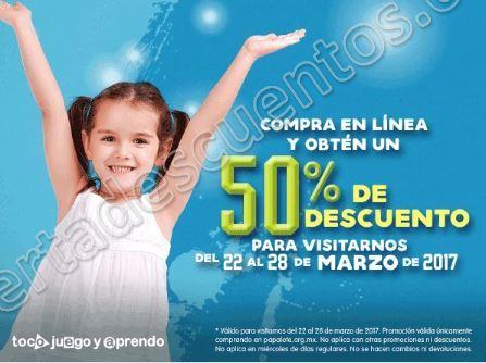 Papalote Museo Del Niño: 50% de descuento comprando en Línea del 22 al 28 de marzo
