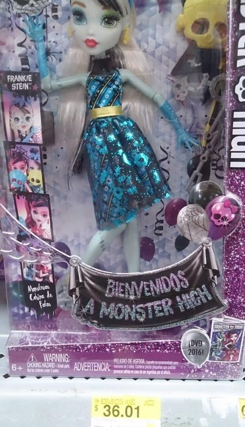 Bodega Aurrerá: Liquidación de Juguetes Muñeca Monster High Bienvenidos a $36.01 y más