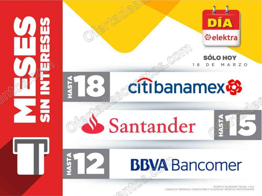 Día Elektra18 de Marzo: Hasta 18 meses sin intereses con Citibanamex y más