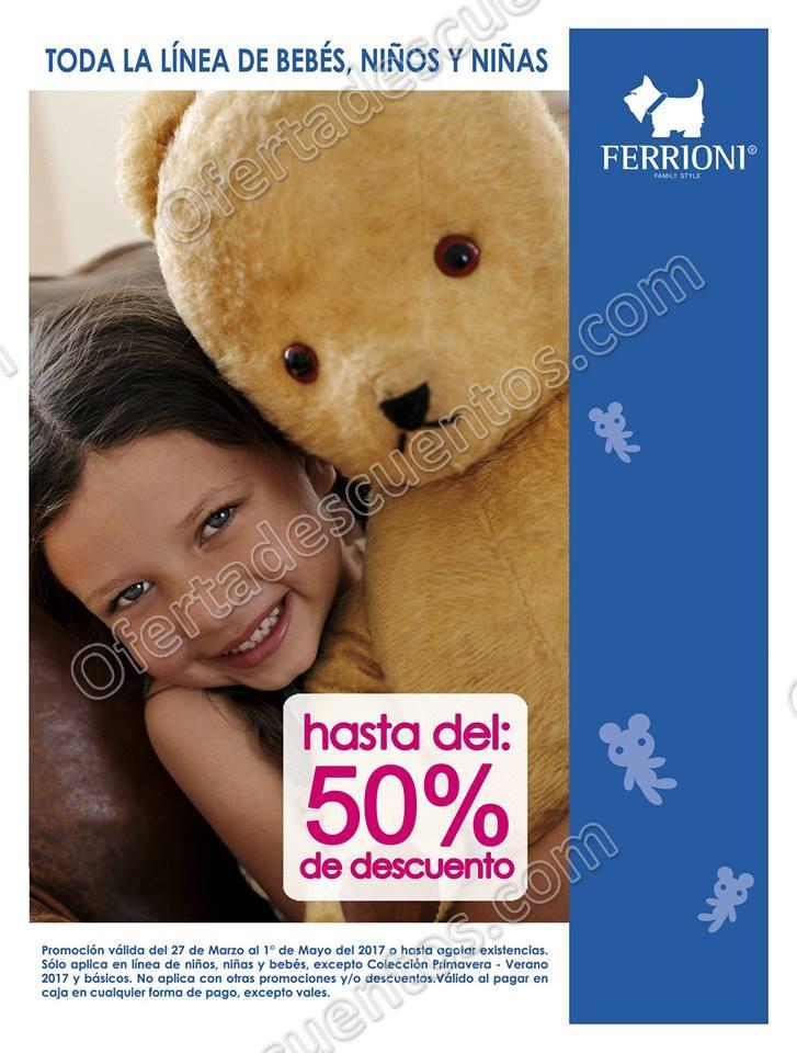 Ferrioni: Hasta 50% de descuento en toda la línea de bebés, niños y niñas