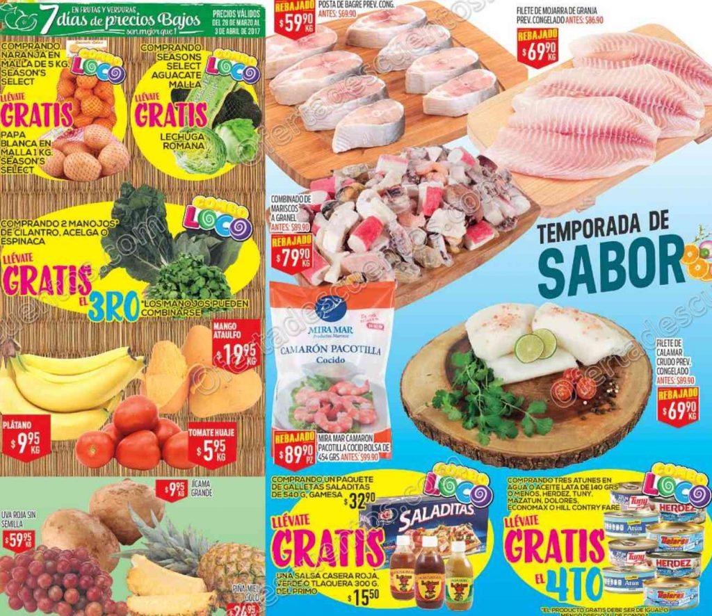 HEB: Tres días de ofertas en frutas y verduras del 28 al 30 de Marzo