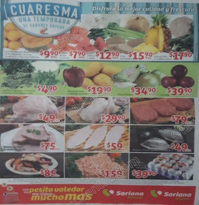 Frutas y Verduras Soriana Mercado 28 y 30 de Marzo 2017