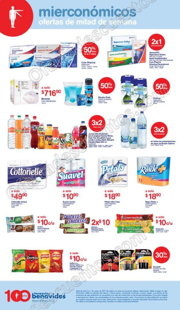 Farmacias Benavides: Ofertas del Miercónomicos 1 de Marzo