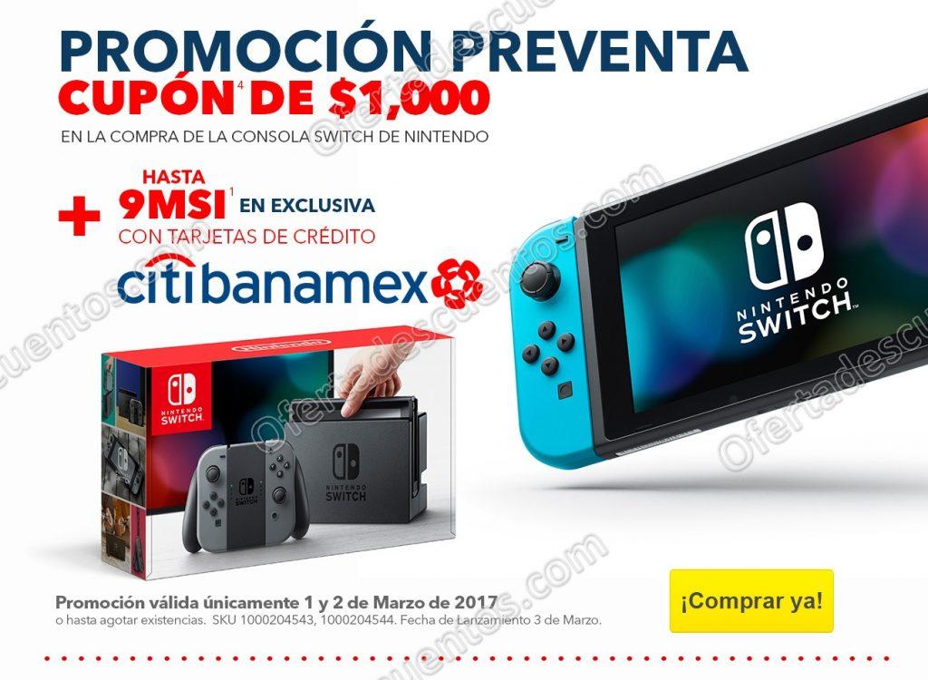 Preventa Nintendo Switch Best Buy: Cupón de $1,000 y hasta 9 meses sin intereses sólo 1 y 2 de Marzo