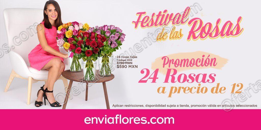 EnvíaFlores: Festival de las rosas 24 rosas a precio de 12