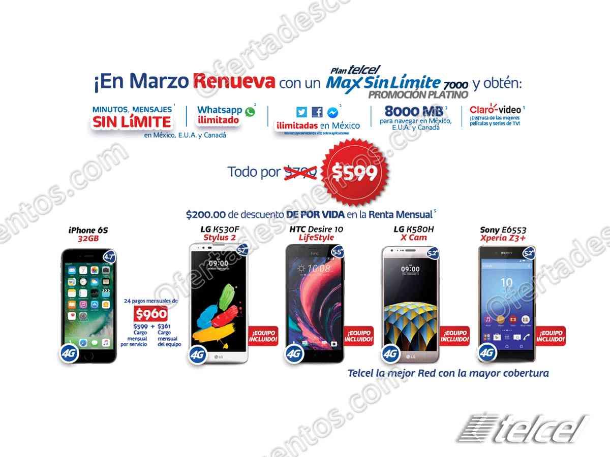 Telcel: Obtén $200 de descuento al renovar con Plan Telcel Max Sin Límite 7000 y 9000