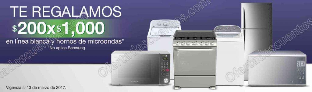 Comercial Mexicana: $200 de descuento por cada $1,000 de compra en línea blanca y más al 13 de Marzo