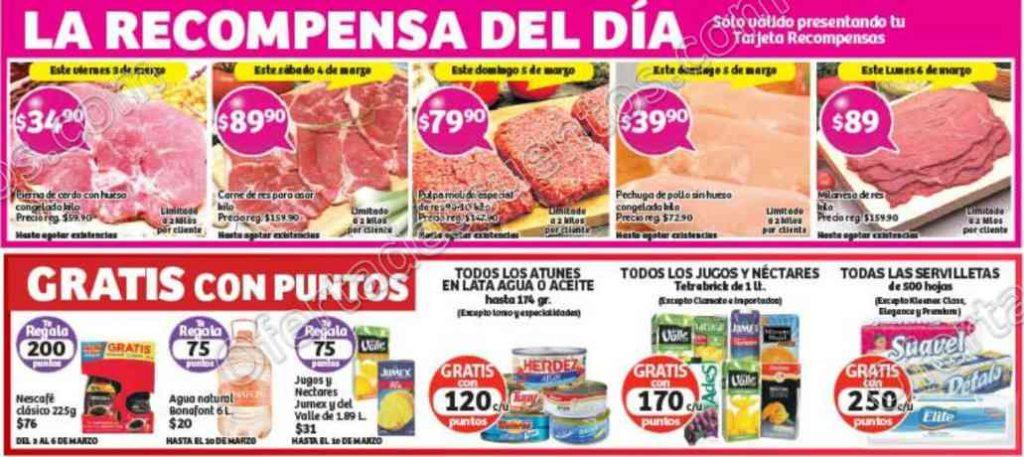 Soriana: Promociones Tarjeta Recompensas del 3 al 6 de Marzo
