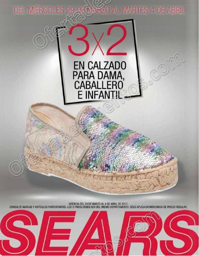 Sears: 3×2 en calzado para Dama, Caballero y Niños del 29 de Marzo al 4 de Abril