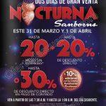 Venta nocturna Sanborns 31 de marzo y 1 de abril OFFDE