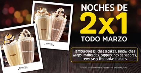 Vips: Noches al 2×1 en hamburguesas, sándwiches, malteadas y más todo el mes de Marzo