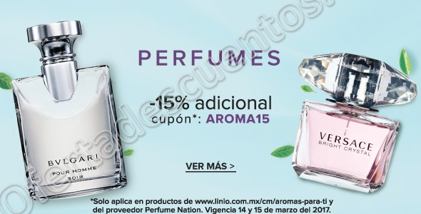 Linio: Cupón 15% de Descuento en Perfumes