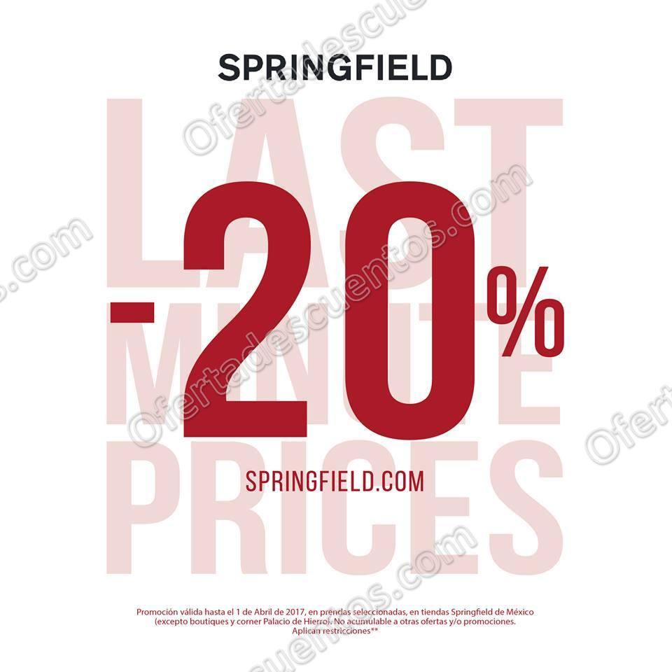 Springfield: Descuentos de Último Minuto 20% de Descuento