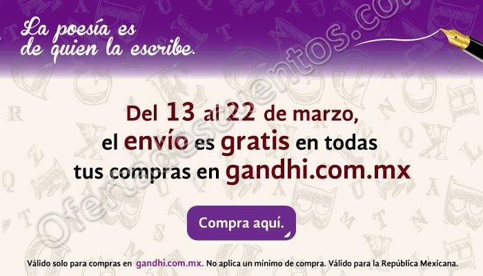 Gandhi: Envío gratis en toda la tienda del 13 al 22 de Marzo