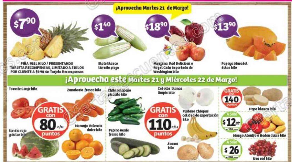 Frutas y Verduras Soriana 21 y 22 de Marzo 2017