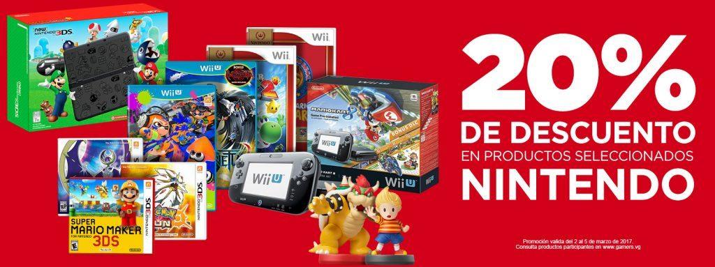 Gamers: 20% de Descuento en Productos Nintendo