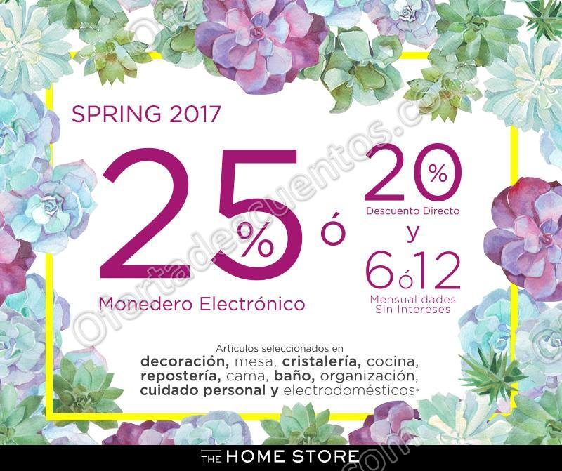 Home Depot: Spring 2017 Hasta 25% en Monedero Electrónico