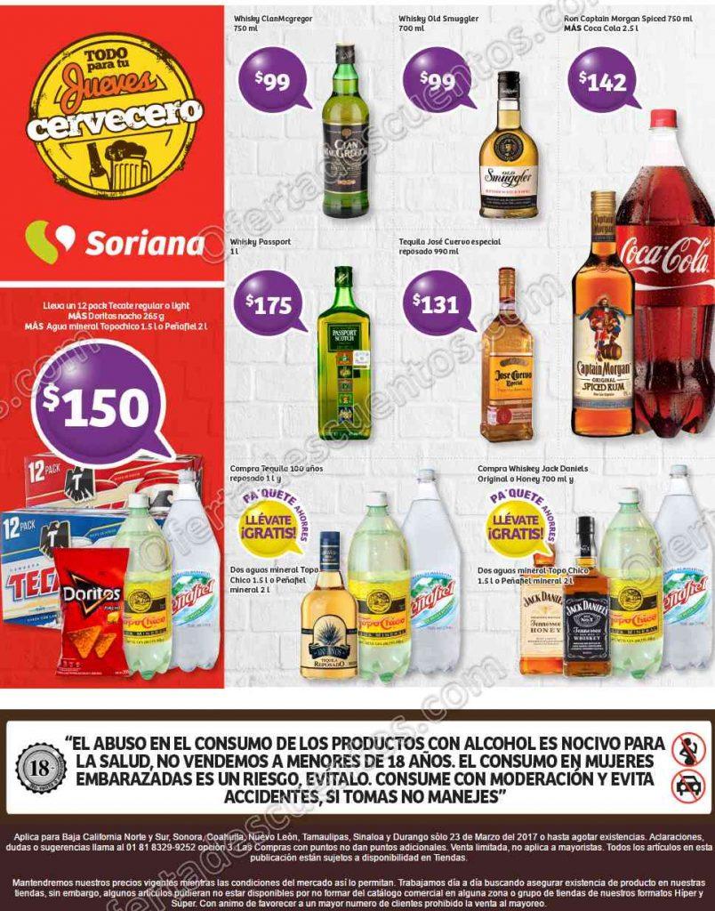Soriana: Jueves Cervecero 23 de Marzo 2017