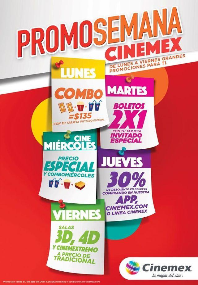 Promosemana Cinemex de Lunes a Viernes