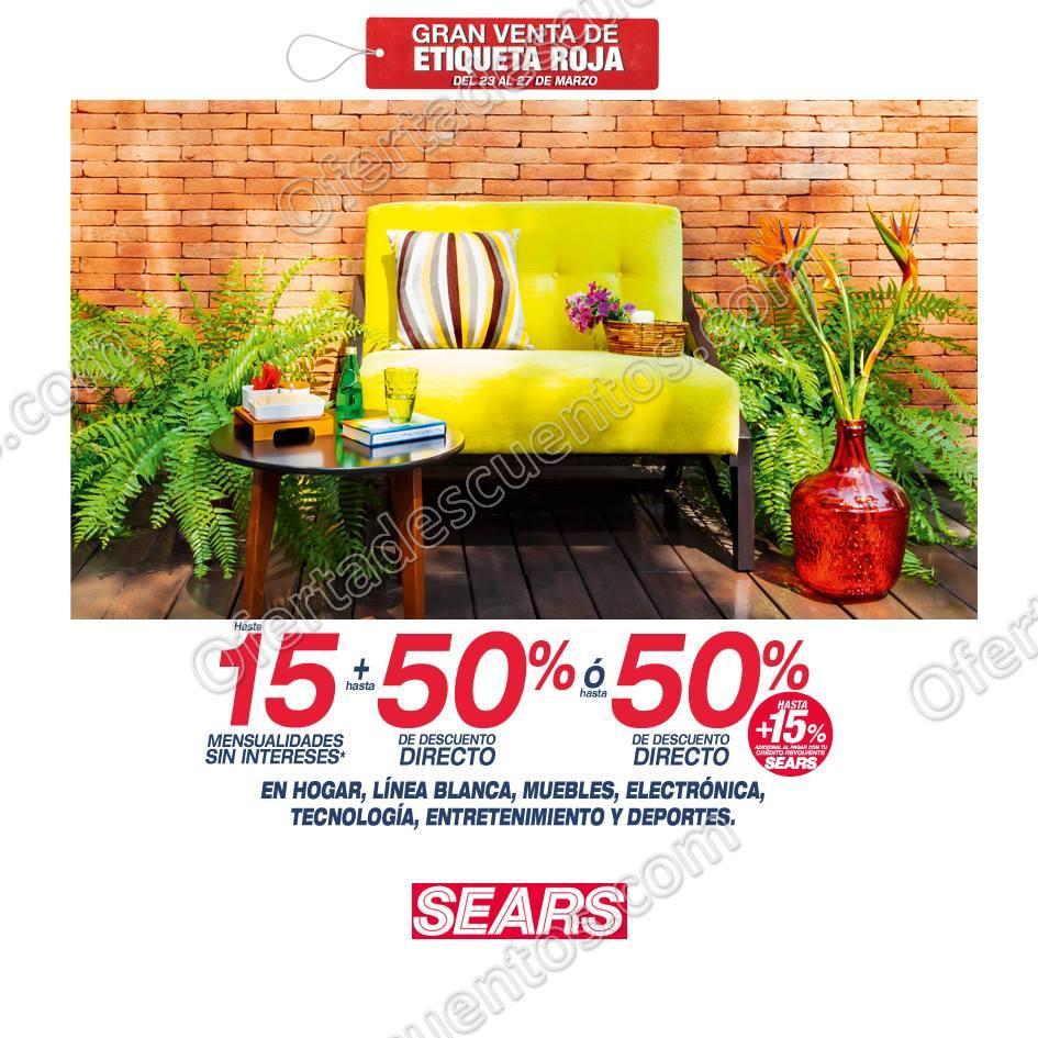 Sears: Gran Venta de Etiqueta Roja 23 al 27 de Marzo