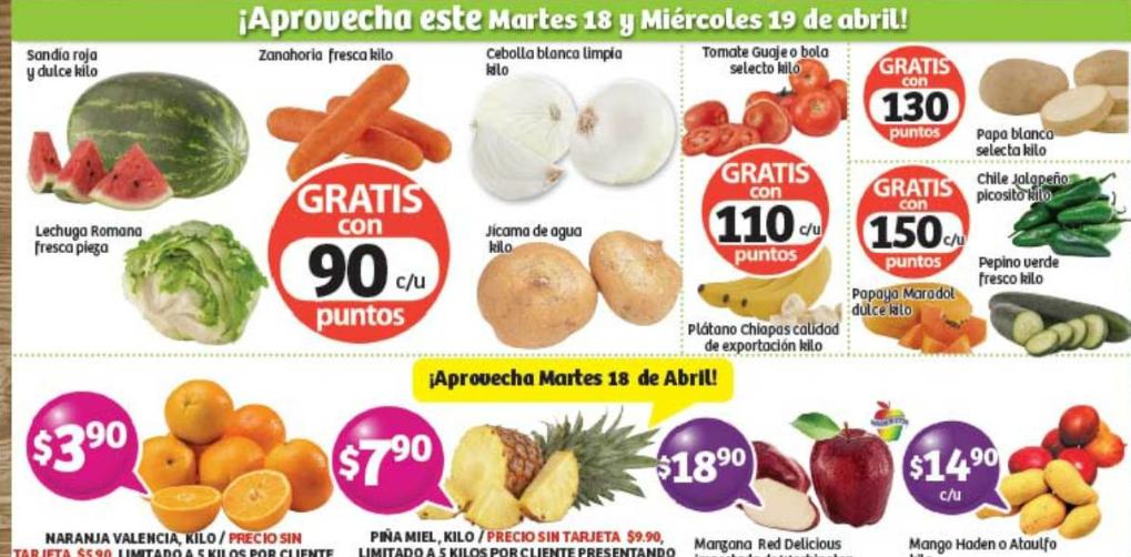 Frutas y Verduras Soriana 18 y 19 Abril 2017