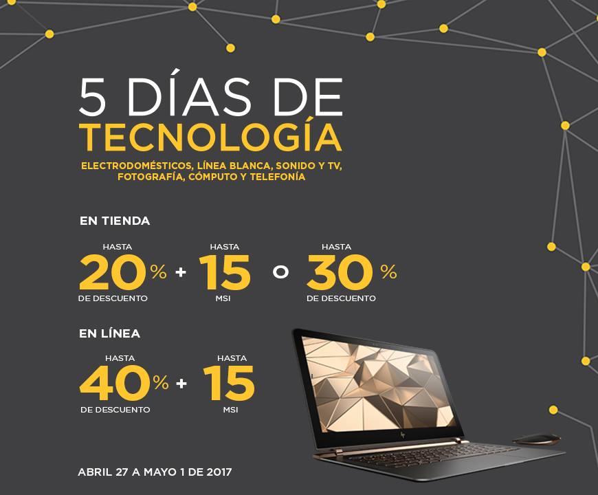 Palacio de Hierro: 5 Días de Tecnología Hasta 40% de Descuento