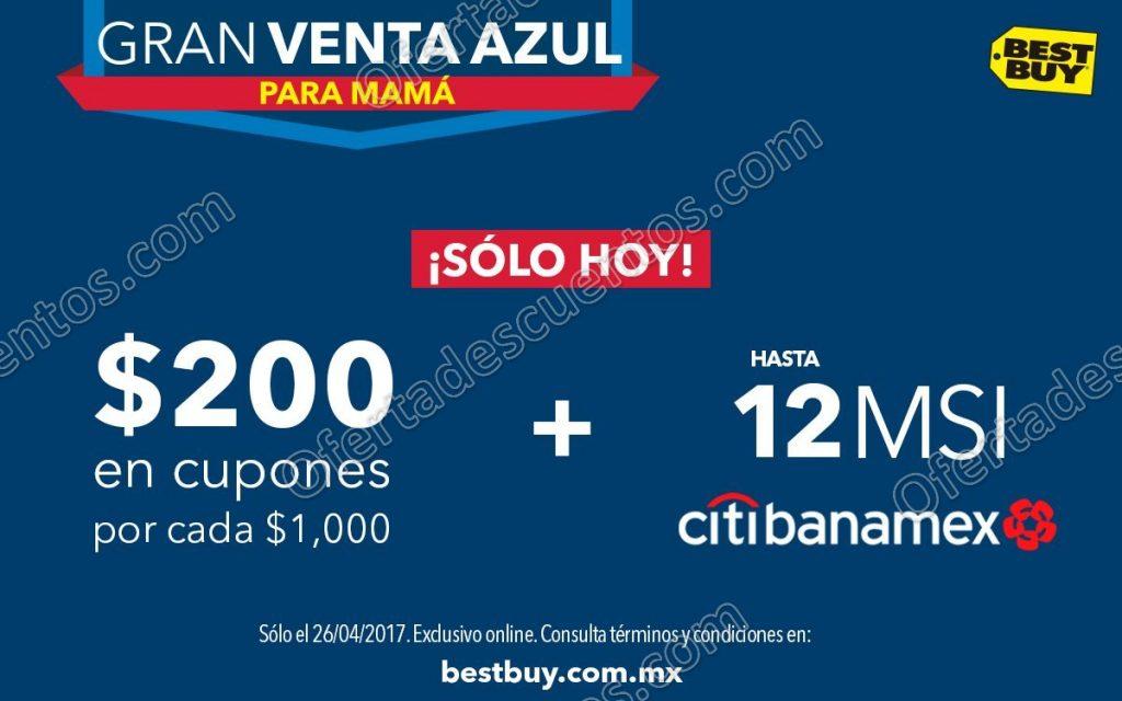 Best Buy: Gran Venta Azul para Mamá $200 en Cupones por cada $1,000 sólo 26 de Abril