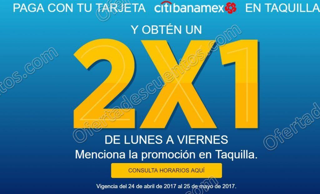 Cinépolis: Entradas al 2×1 con Citibanamex de Lunes a Viernes del 24 de Abril al 25 de Mayo