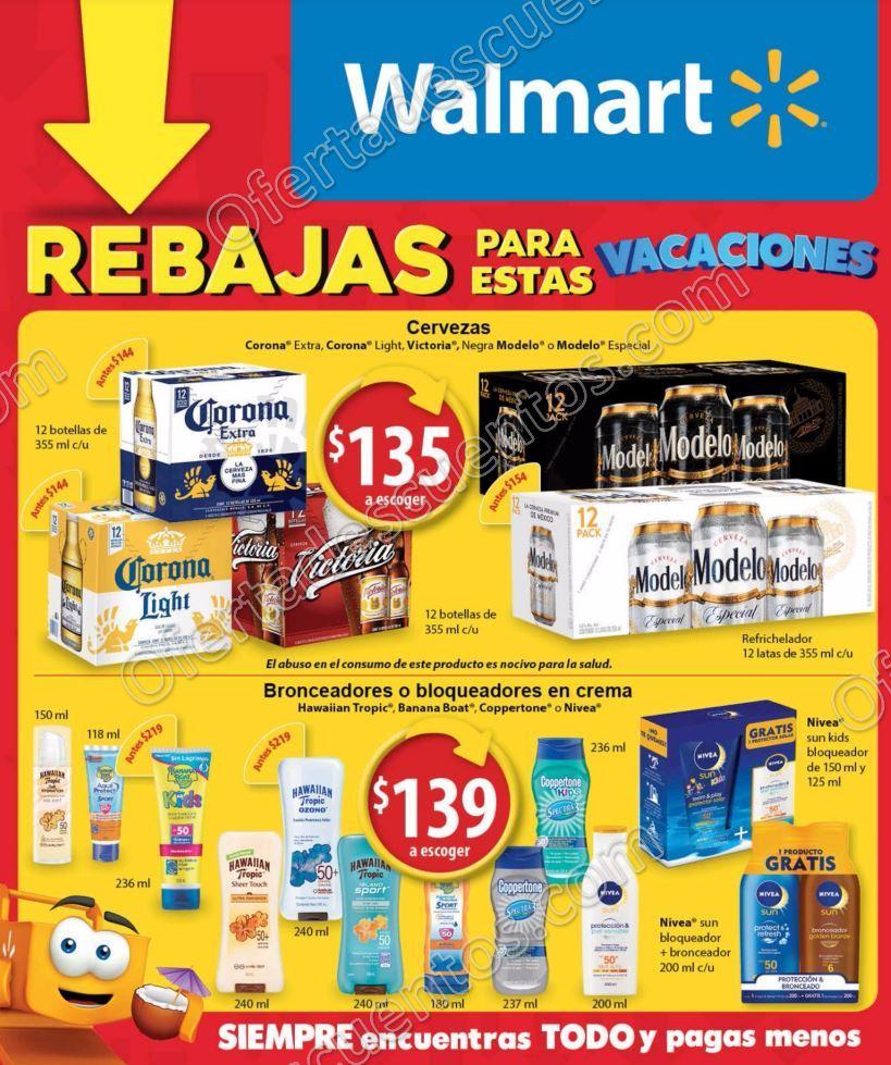"""Walmart: Folleto de Promociones """"Rebajas para estas Vacaciones"""" del 5 al 20 de Abril 2017"""