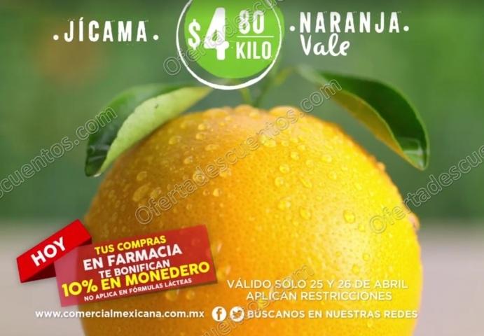 Comercial Mexicana: Frutas y Verduras del Campo 24 y 25 de Abril 2017