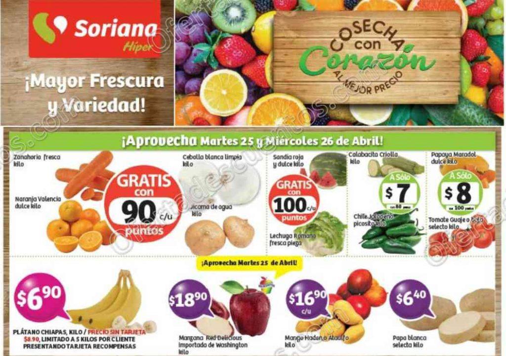 Frutas y Verduras Soriana 25 y 26 Abril 2017
