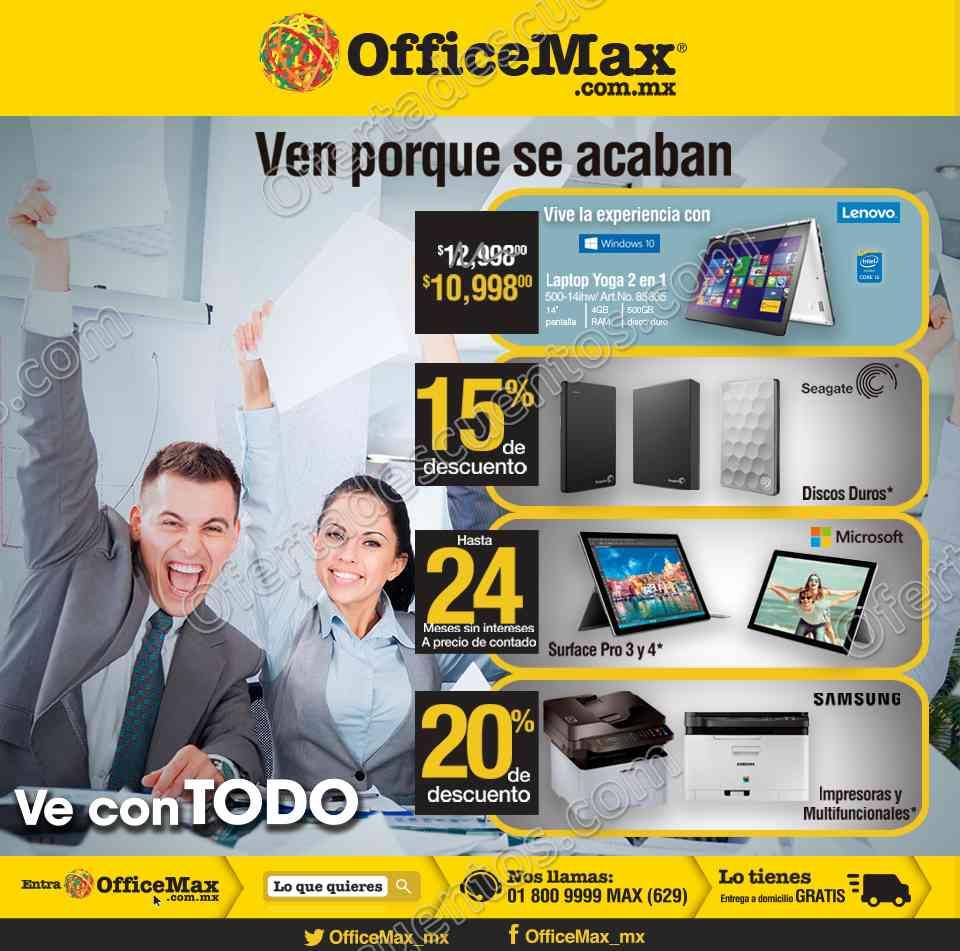 Office Max: 15% de descuento en Discos Duros, 20% de descuento en impresoras y más