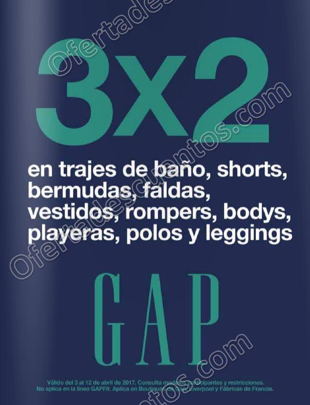 GAP: 3×2 en trajes de baño, shorts, bermudas, faldas y más del 3 al 12 de Abril