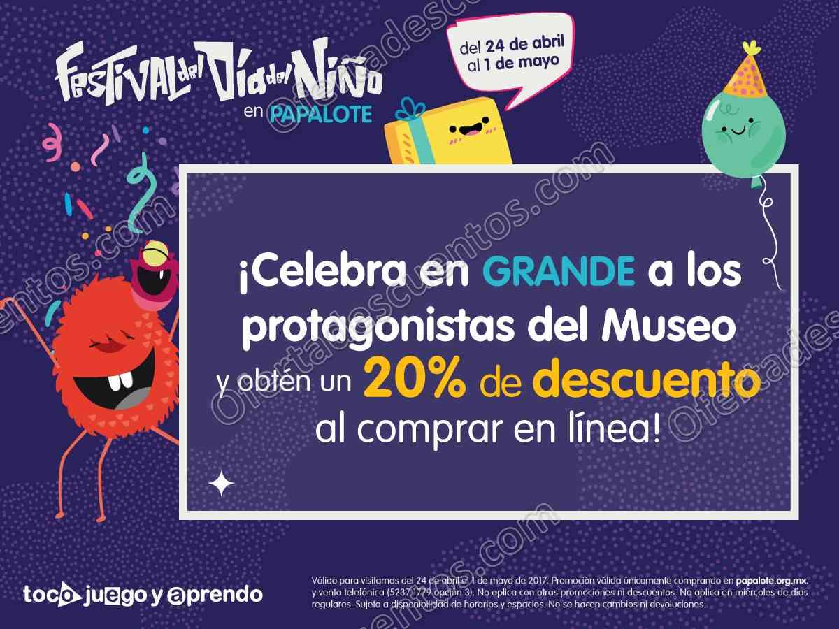 Papalote Museo del Niño: 20% de descuento al comprar en línea del 24 de Abril al 1 de Mayo