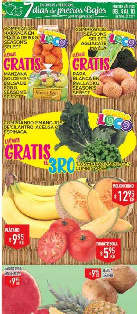 HEB: Ofertas Frutas y Verduras del 4 al 10 de Abril 2017