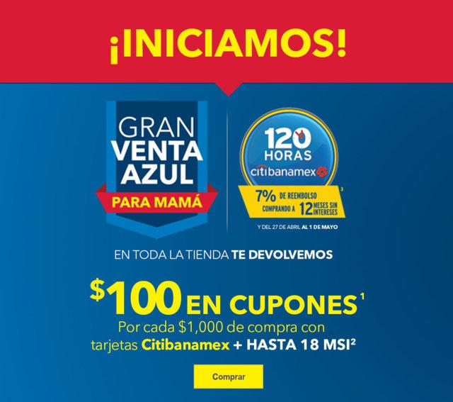 Best Buy: Gran Venta Azul Para Mamá $100 en Cupones y Bonificación con Citibanamex