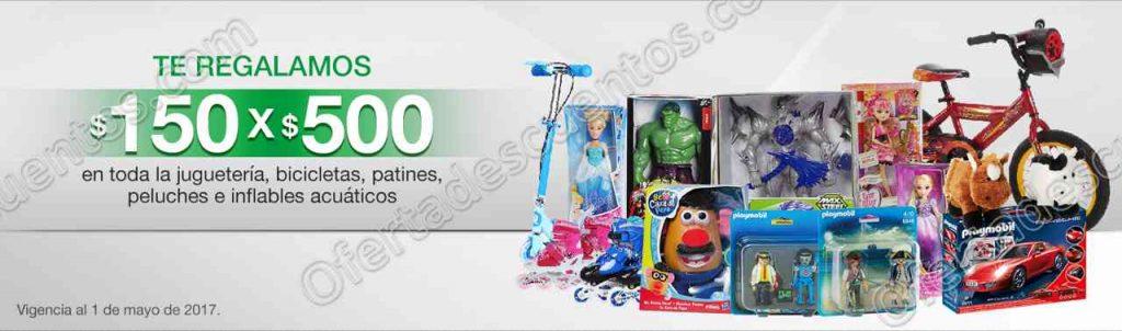 Comercial Mexicana: $150 por Cada $500 en Juguetería del 27 de Abril al 1 de Mayo 2017