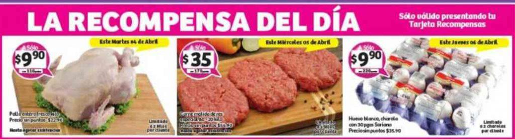 Soriana: Promociones Tarjeta Recompensa del 4 al 6 de Abril 2017