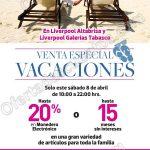 venta especial vacaciones liverpool 8 abril OFFDE