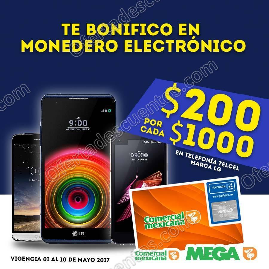 Comercial Mexicana: $200 de bonificación por cada $1,000 en Celulares LG Telcel al 10 de Mayo
