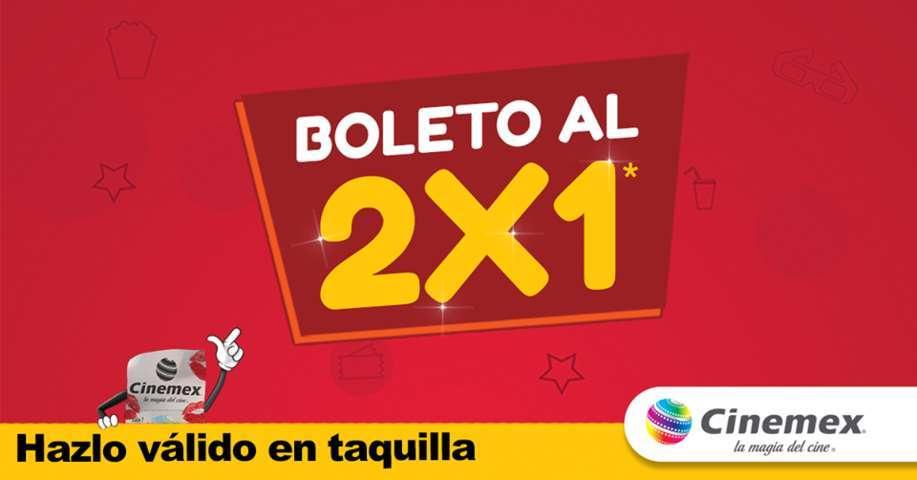 Cinemex: Cupón Entradas al 2×1 en todas las Salas válido del 23 al 25 de Mayo 2017