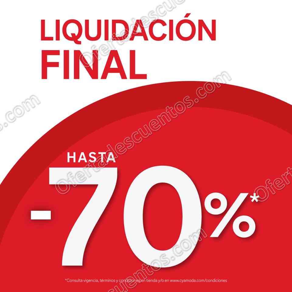 C&A: Liquidación de hasta 70% de descuento prendas desde $29 hasta $199