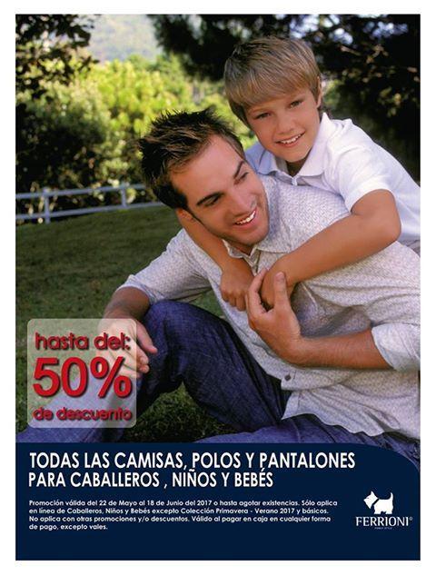 Ferrioni: Hasta 50% de descuento en camisas, polos y pantalones para caballeros al 18 de Junio