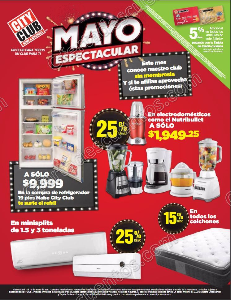 "City Club: Folleto de Promociones ""Mayo Espectacular"" del 1 al 15 de Mayo 2017"