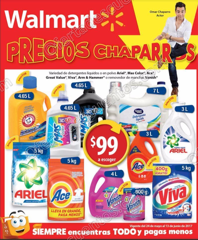 Walmart: Folleto de Promociones del 24 de mayo al 13 de junio 2017