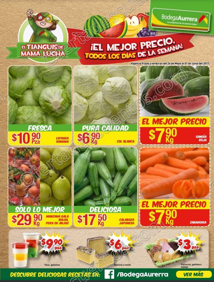 Bodega Aurrerá: Frutas y Verduras Tiánguis de Mamá Lucha del 26 de mayo al 1 de Junio