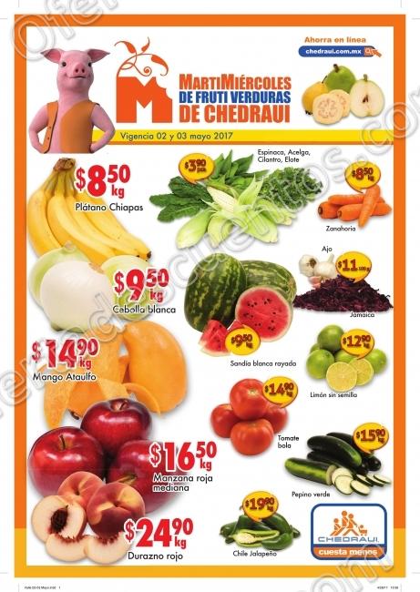 Frutas y Verduras Chedraui 2 y 3 Mayo 2017