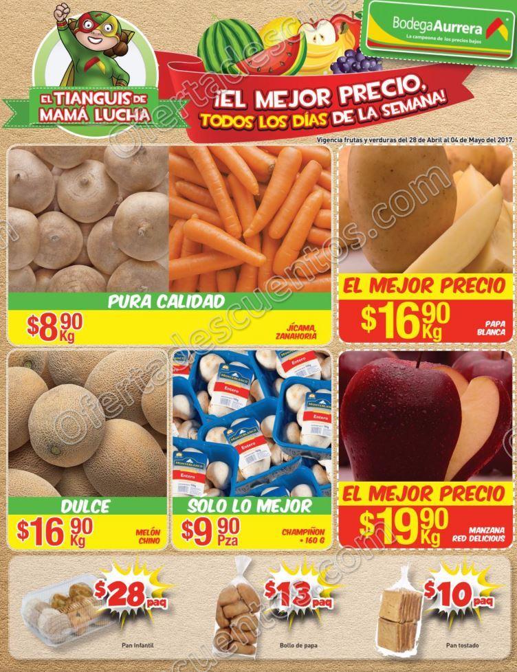 Bodega Aurrerá: Frutas y Verduras Tiánguis de Mamá Lucha del 28 de Abril al 4 de Mayo